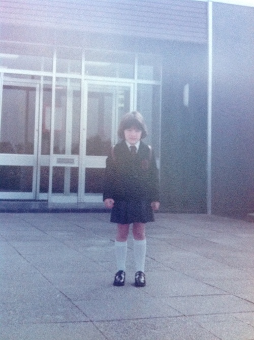 5 year old girl (me) starting school
