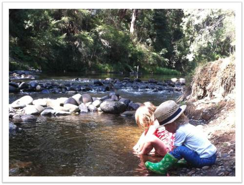 Elizabeth, Val and the Yarra River